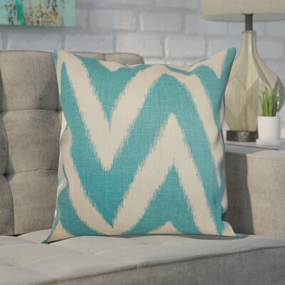 Moretti Cotton Throw Pillow Color: Aquamarine, Size: 20 H x 20 W