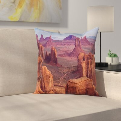 Nature South American Scenery Square Pillow Cover Size: 24 x 24