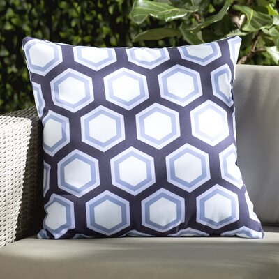 Agatha Geometric Print Outdoor Pillow Color: Bewitching, Size: 18 H x 18 W x 1 D