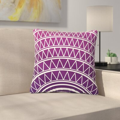 Matt Eklund Portal Outdoor Throw Pillow Color: Amethyst, Size: 16