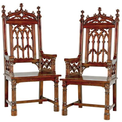 Gothic Tracery Cathedral Solid Wood Dining Chair