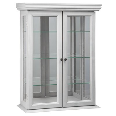 Country Tuscan Hardwood Wall Curio Cabinet Color: Lily White