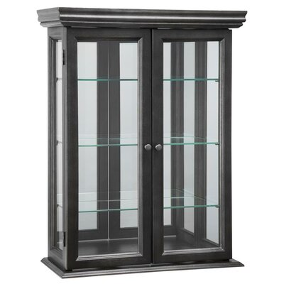Country Tuscan Hardwood Wall Curio Cabinet Color: Ebony Black