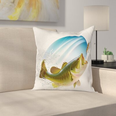 Fish Wild Life Square Pillow Cover Size: 16 x 16