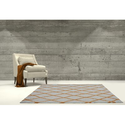 Fancy Trellis Ivory/Orange Area Rug Rug Size: Rectangle 52 x 75