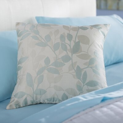 Franciscan Throw Pillow Size: 18 H x 18 W x 4 D, Color: Light/Blue / Cream, Filler: Down