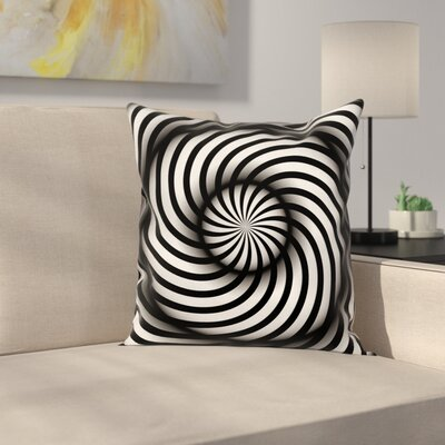 Fabric and Swirl Square Pillow Cover Size: 24 x 24