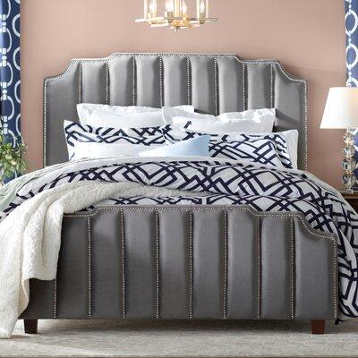 Elof Velvet Upholstered Panel Bed Color: Gray, Size: Queen