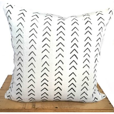 Craney Mud Cloth Pillow Cover Color: White