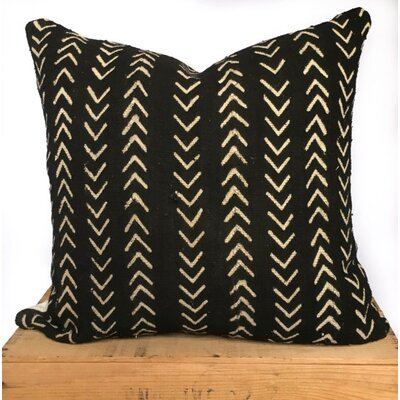 Craney Mud Cloth Pillow Cover Color: Black