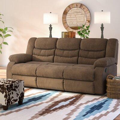 Ridgemont Reclining Sofa Upholstery: Chocolate