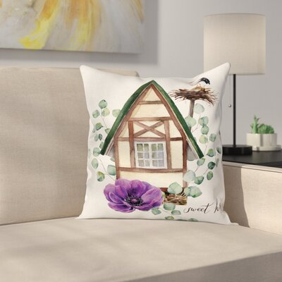 Anemone Home Square Cushion Pillow Cover Size: 18 x 18