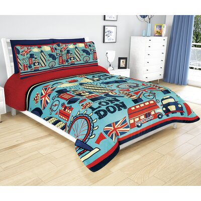 Sherpa Reversible Super Soft Jumbo London Comforter