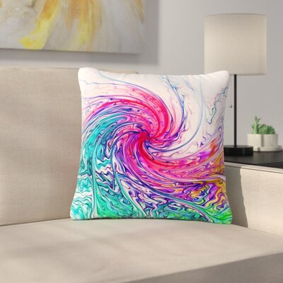 Alison Coxon Colour Wave Fantasy Outdoor Throw Pillow Size: 18 H x 18 W x 5 D