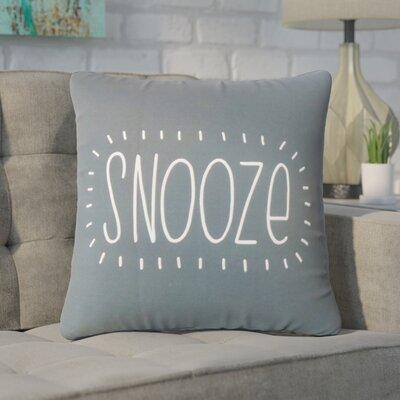 Wisniewski Snooze Text Cotton Throw Pillow