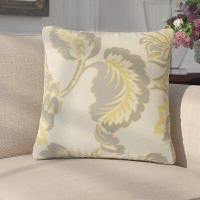 Edoardo Floral Throw Pillow Color: Lemon Grass