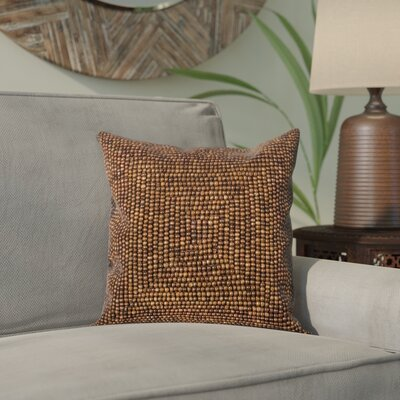 Sieben Throw Pillow Size: 16 H x 16 W x 0.5 D, Color: Brown
