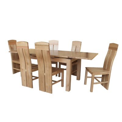 Pecor 9 Piece Extendable Dining Set Color: Light Dark Oak