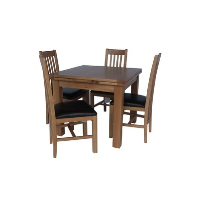 Pecora 5 Piece Extendable Dining Set Color: Light Dark Oak
