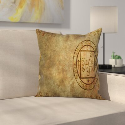 Ancient Textured Paper Square Pillow Cover Size: 18 x 18