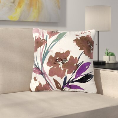 Ebi Emporium Pocket Full of Posies Outdoor Throw Pillow Size: 18 H x 18 W x 5 D, Color: Brown