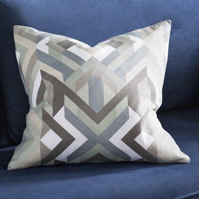 Dorsch 100% Cotton Throw Pillow Size: 20 H x 20 W x 5 D, Color: Slate, Filler: Polyester