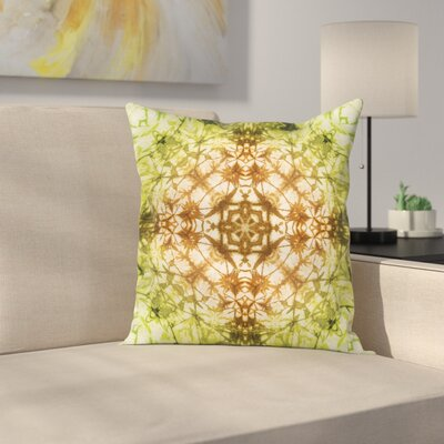 Tie Dye Abstract Pattern Square Pillow Cover Size: 24 x 24