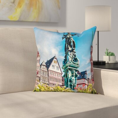European Old City Frankfurt Square Pillow Cover Size: 18 x 18