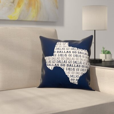 Texas Go Team Throw Pillow
