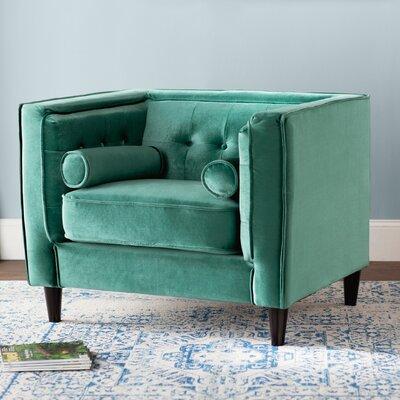 Roberta Velvet Club Chair Upholstery: Green
