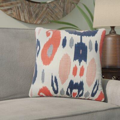 Corena Ikat Cotton Throw Pillow Color: Lapis