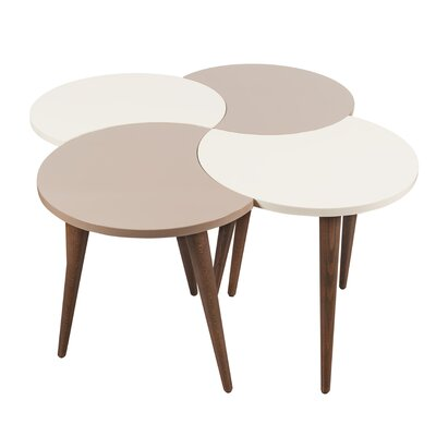 Connie Floral Circles 4 Piece Nesting Table