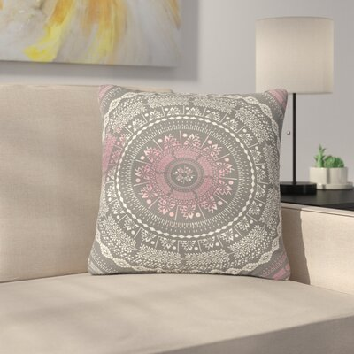 Famenxt Culture Cut Boho Mandala Ilustration Outdoor Throw Pillow Size: 16 H x 16 W x 5 D