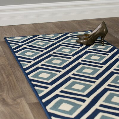 Rahul Hand-Woven Blue Indoor/Outdoor Area Rug Rug Size: Runner 23 x 76