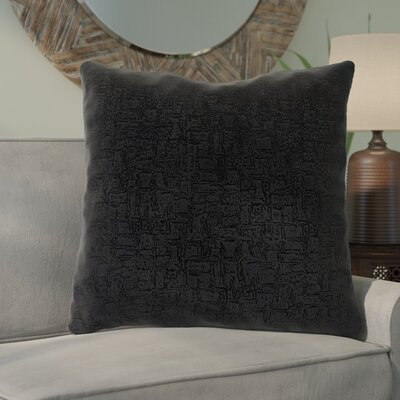 Tarsha Throw Pillow Color: Black