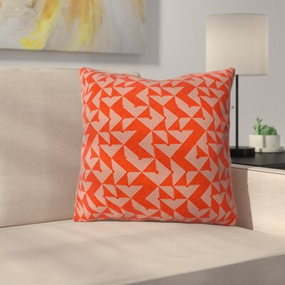 Throw Pillow Size: 16 H x 16 W x 4 D, Color: Red