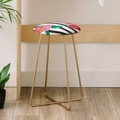 Natalie Baca Stripes and Blooms 25 Bar Stool