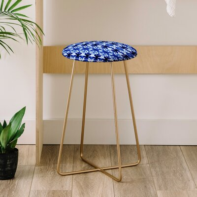 Wagner Campelo Shibori Tribal Indigo Co Farm Life 25 Bar Stool