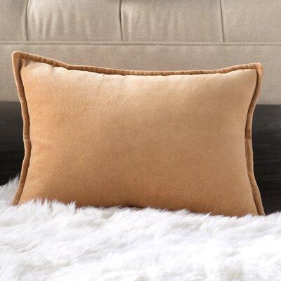 Trini 100% Cotton Lumbar Pillow Cover Size: 13 H x 19 W x 1 D, Color: Orange