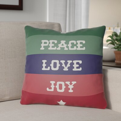 Stripe Indoor/Outdoor Throw Pillow Size: 20 H x 20 W x 4 D, Color: Green / Blue / Red / White