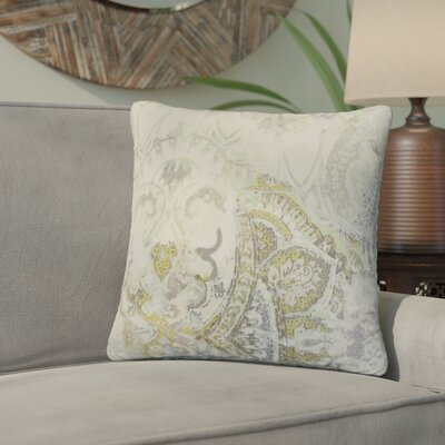 Brookview Floral Linen Throw Pillow Color: Gray