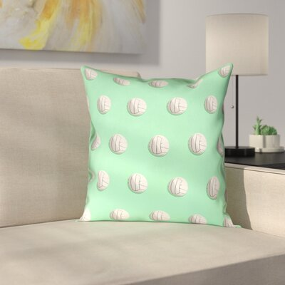 Volleyball Pillow Cover Size: 18 x 18, Color: Green