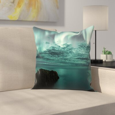 Luke Gram Borgarfjorour Eystri Iceland Throw Pillow Size: 14 x 14