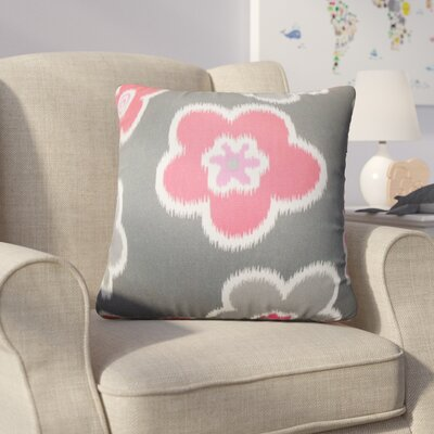 Barmore Floral Cotton Throw Pillow