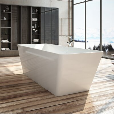 Onsen 59 x 28 Freestanding Soaking Bathtub
