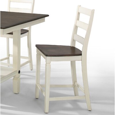 Marchan Adjustable Bar Stool (Set of 2) Color: White