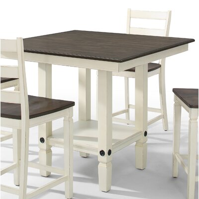 Marchan Square Pub Table Color: White