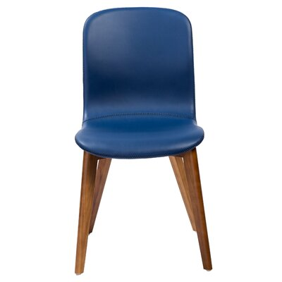 Gamino Upholstered Dining Chair Upholstery: Blue