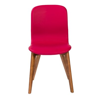 Gamino Upholstered Dining Chair Upholstery: Red