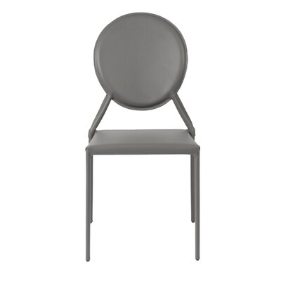 Hanner Stacking Upholstered Dining Chair Upholstery: Gray